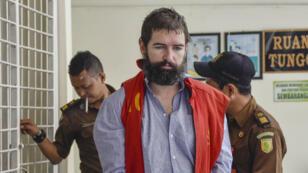 Le Français, Felix Dorfin, au tribunal de Mataram sur l'île de Lombok, le 29 avril 2019.
