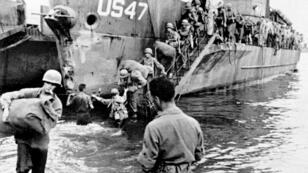 Esta foto fue tomada en agosto de 1944, cuando las tropas aliadas aterrizaron en Saint-Tropez, Francia.