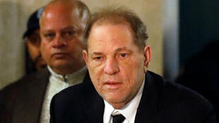 Former film producer Harvey Weinstein arrives at his trial in New York on January 6, 2020.