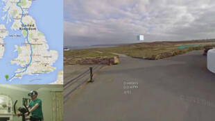 Pour tuer le temps, Aaron Puzey a eu l'idée de parcourir le Royaume-Uni à vélo, sans bouger de chez lui, et grâce à Google Street View ainsi que la réalité virtuelle.
