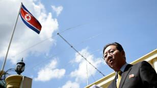 سفير كوريا الشمالية في كوالا لمبور في 4 آذار/مارس 2017
