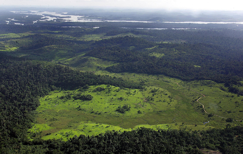 Imagen de archivo. Vista general de un área deforestada cerca del río Xingú en el norte de Brasil.
