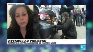 2020-06-29 11:12 Attaque au Pakistan : au moins 6 morts, la bourse de Karachi visée