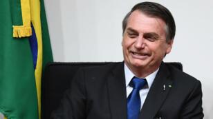 Le président brésilien Jair Bolsonaro à Brasilia, le 10juillet2019.