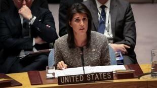 نيكي هايلي السفيرة الأمريكية لدى الأمم المتحدة