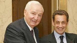 Paul Desmarais et Nicolas Sarkozy