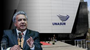 Fotografía de archivo de la sede de Unasur durante la cumbre de ministros de Relaciones Exteriores, en Quito, Ecuador, el 23 de abril de 2016.