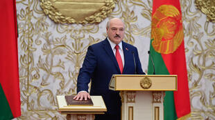 Lukashenko took the oath of office once more on September 23 but the opposition has told him he must quit before October 25 or face a general strike