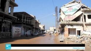 جانب من مدينة إدلب شمال سوريا