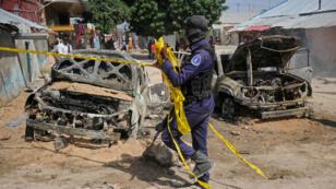 Une précédente attaque à la voiture piégée à Mogadiscio, le 16 décembre 2018.
