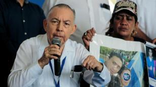 Carlos Tunnermann, miembro de la Alianza Cívica, durante una conferencia de prensa en Managua, Nicaragua, el 31 de julio de 2019.
