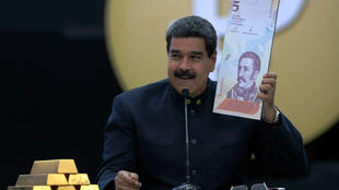 El presidente Nicolás Maduro durante una conferencia de prensa en Caracas el 22 de marzo de 2018.