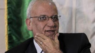 أمين سر منظمة التحرير الفلسطينية صائب عريقات