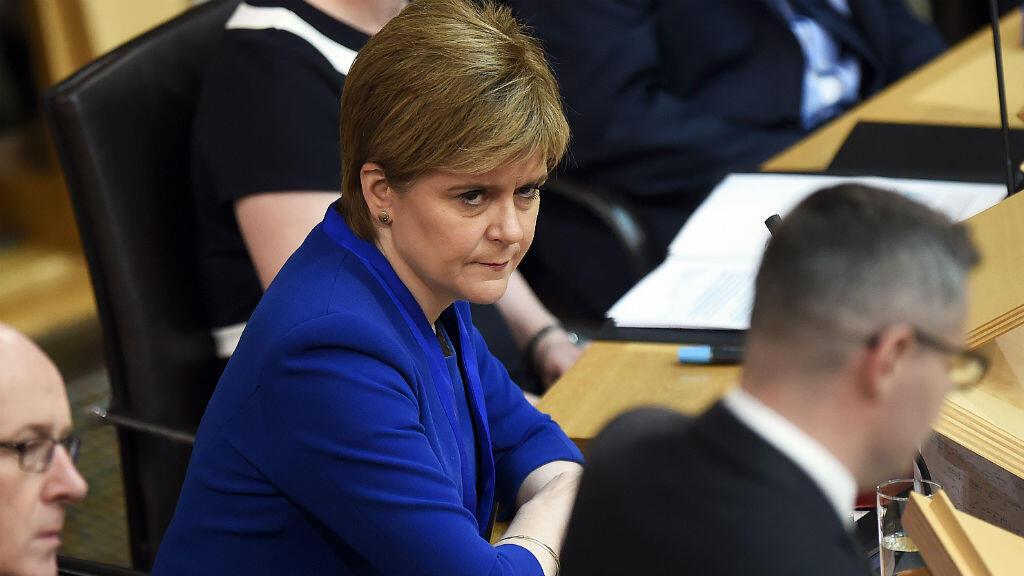 La Première ministre écossaise Nicola Sturgeon au Parlement d'Édimbourg, le 27 juin 2017.