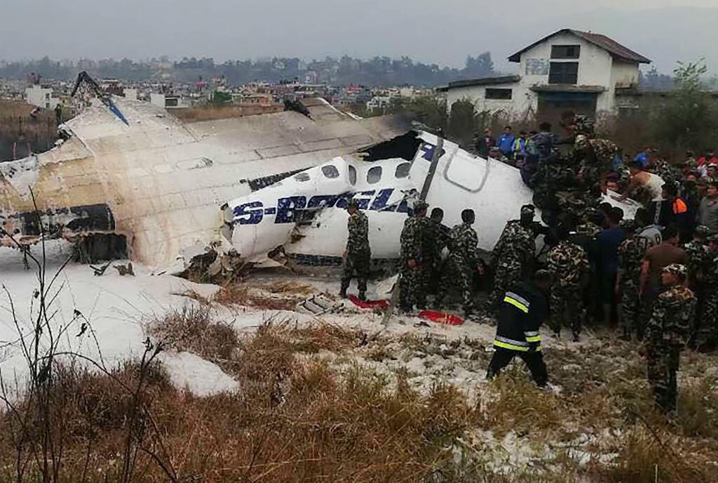 Un avion de US-Bangla Airlines s'est écrasé le 12 mars près de l'aéroport de Katmandou, au Népal.
