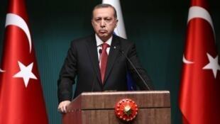 Le président turc Recep Tayyip Erdogan, le 1er décembre 2014 à Ankara