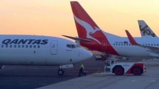 Un avión de la aerolínea australiana Qantas.