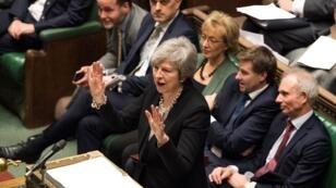 رئيسة الوزراء البريطانية تيريزا ماي أمام مجلس النواب 29 يناير/كانون الثاني 2019