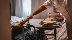 The coronavirus outbreak has confined the elderly in France's care homes to isolation with no family visits allowed.