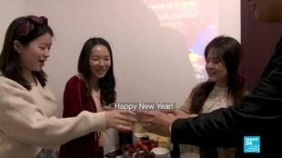 A group of friends in Beijing celebrating the Lunar New Year differently this year.