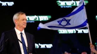 Benny Gantz, exjefe de las fuerzas armadas israelíes y jefe del partido Israel Resilience, pronuncia su primer discurso político en el lanzamiento de su campaña en Tel Aviv, Israel, 29 de enero de 2019.
