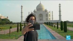 2021-06-16 16:05 Coronavirus en Inde : le Taj Mahal rouvre ses portes après deux mois de fermeture