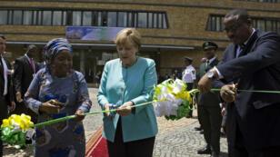La chancelière allemande Angela Merkel lors de sa visite en Éthiopie, mardi 11 octobre 2016.