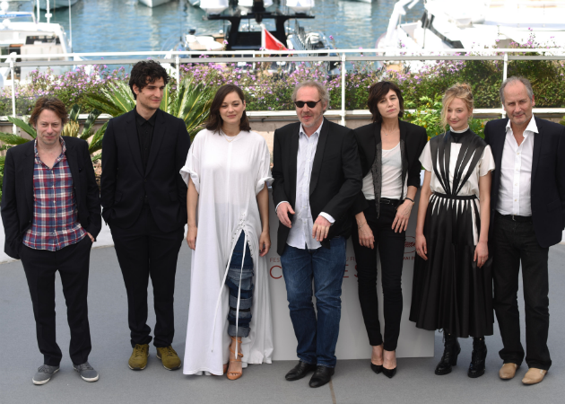 "The cast of ""Ismael's Ghosts"" attend the photocall on the opening day of the Cannes Film Festival."