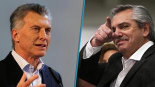 Los candidatos Mauricio Macri (izquierda) y Alberto Fernández (derecha) se enfrentarán con otros cuatro candidatos en las urnas el próximo 27 de octubre.