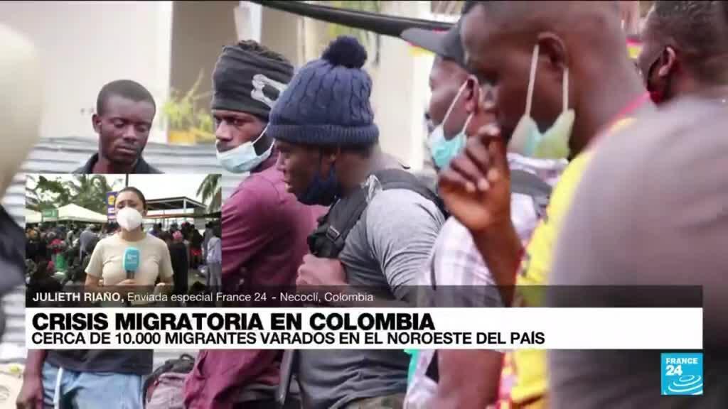 2021-07-30 22:07 Informe desde Necoclí: migrantes varados esperan cruzar el Tapón del Darién