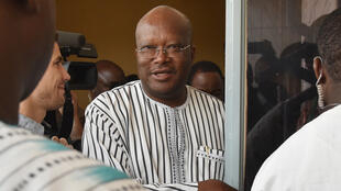 Le président élu Roch Marc Kaboré au siège de son parti le 2 décembre.