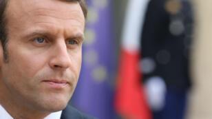 Emmanuel Macron, le 2 avril à l'Élysée.