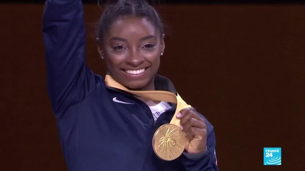 2019-10-14 06:16 Simon Biles makes history: American gymnast wins record 25th World Championship medal
