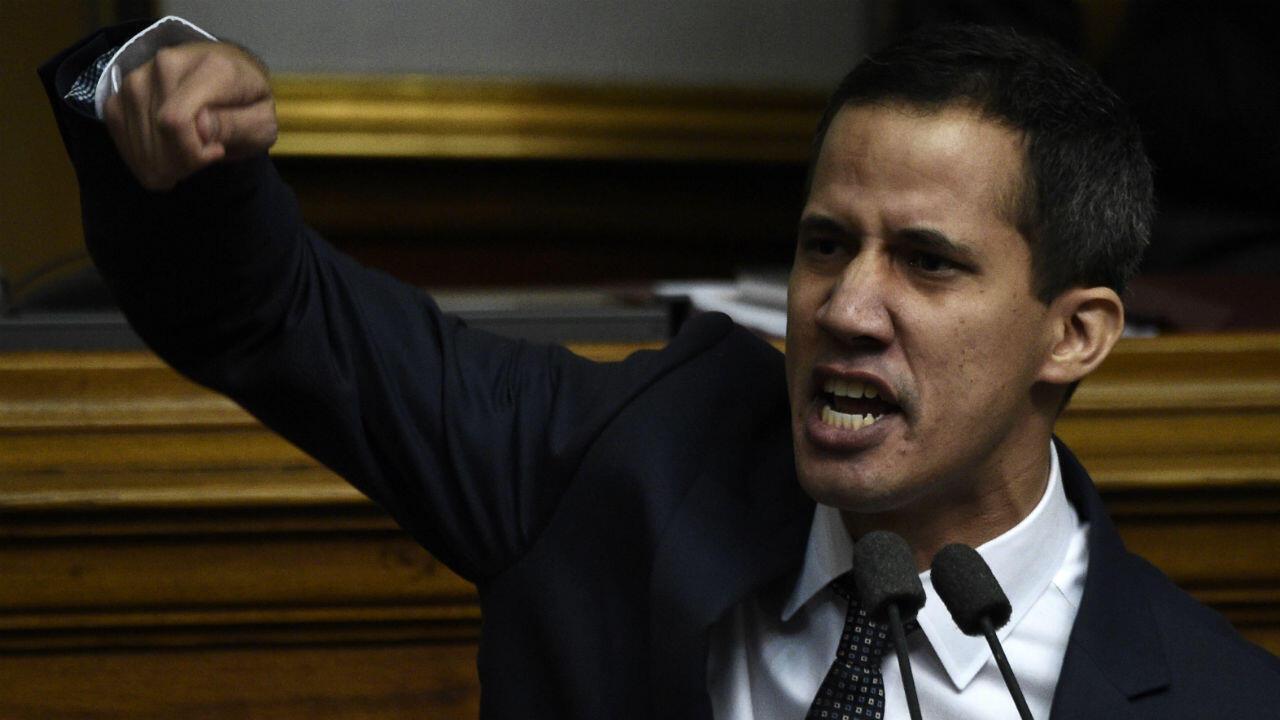 Le président de l'Assemblée nationale du Venezuela, Juan Guaido, s'exprime le 5 janvier 2019 à Caracas.