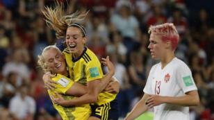 Les Suédoises ont sorti lundi soir les Canadiennes de la compétition.