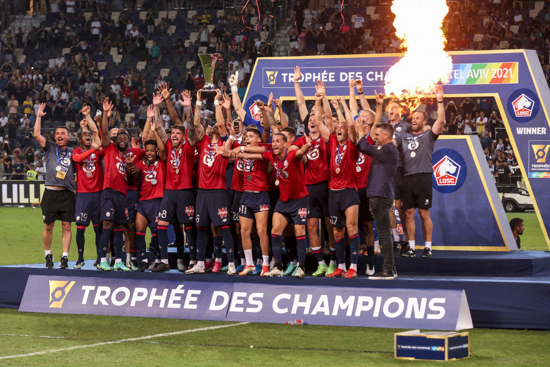 Lille vainqueur du Trophée des champions contre le PSG, le 1er août 2021 à Tel-Aviv