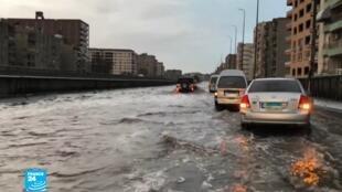 أمطار غزيرة لم تشهدها مصر منذ عقود.