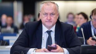Le patron de l'agence russe antidopage Iouri Ganous, lors d'une conférence de l'Agence mondiale antidopage le 6 novembre 2019 à Katowice (Pologne)
