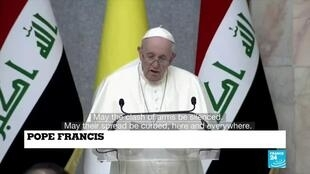 2021-03-05 18:01 Pope urges Iraqis to shun past violence and give peace a chance