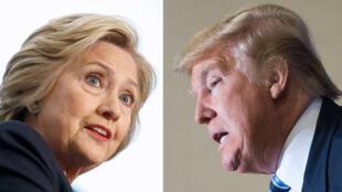 """La démocrate Hillary Clinton et le républicain Donald Trump sont donnés favoris de ce nouveau """"Super mardi"""" aux États-Unis."""