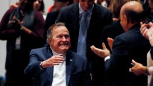 El expresidente estadounidense George HW Bush (1989-1993) ha sido hospitalizado dos veces en los últimos meses. Nociembre 11 de 2014.