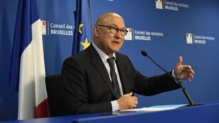 Michel Sapin au Parlement européen le 7 mai 2015.