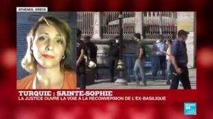 """2020-07-10 18:00 Sainte-Sophie : une """"provocation"""" pour la Grèce"""