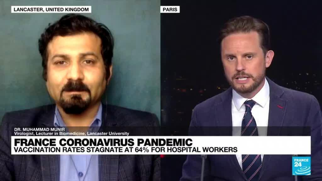 2021-07-05 21:07 France coronavirus pandemic, vaccination rates stagnate at 64% for hospital workers