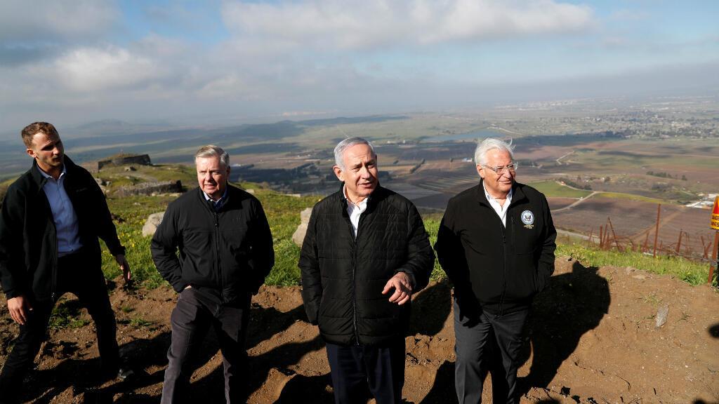 El pasado 11 de marzo, el primer ministro Benjamin Netanyahu visitó los Altos del Golán en el territorio controlado por Israel en compañía de Lindsey Graham, senador estadounidense del partido Republicano, y de David Friedman, embajador de Estados Unidos en Israel.