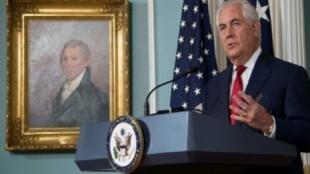 وزير الخارجية الأمريكي ريكس تيلسرون يلقي خطابا في مقر وزارة الخارجية الأمريكية