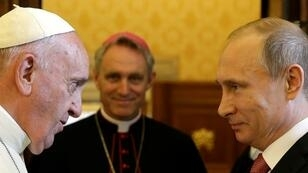 Thursday's visit will be Putin's third meeting with Pope Francis
