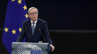 Le président de la Commission européenne  Jean-Claude Juncker à Strasbourg, le 14 septembre 2016.