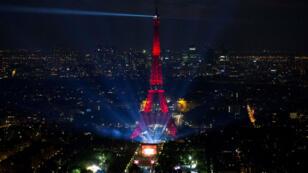 حفل افتتاح منطقة المشجعين قرب برج إيفل 9 يونيو 2016