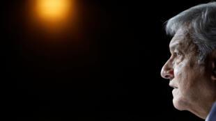 El presidente electo de México, Andrés Manuel López Obrador, realiza una conferencia de prensa para anunciar a Marcelo Ebrard como ministro de Asuntos Exteriores, en Ciudad de México, México, el 5 de julio de 2018.